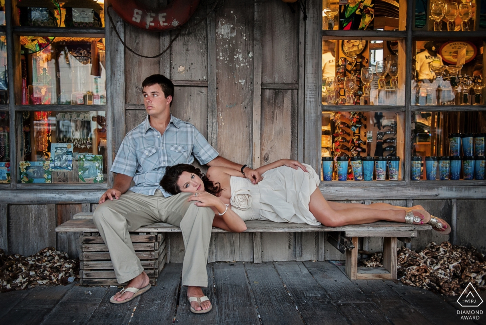 Key West Iconic Engagement Session Mac Sea Garden Studio Julie